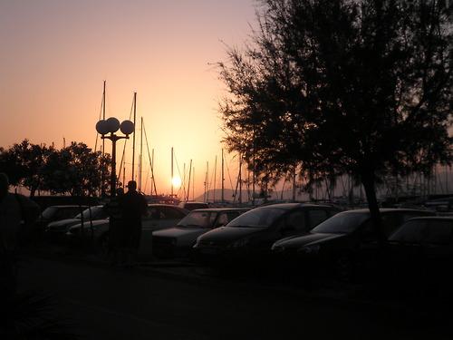 Una imagen: Atardecer en Bari