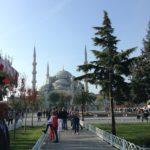 Vista de la Mezquita Azul desde el parque